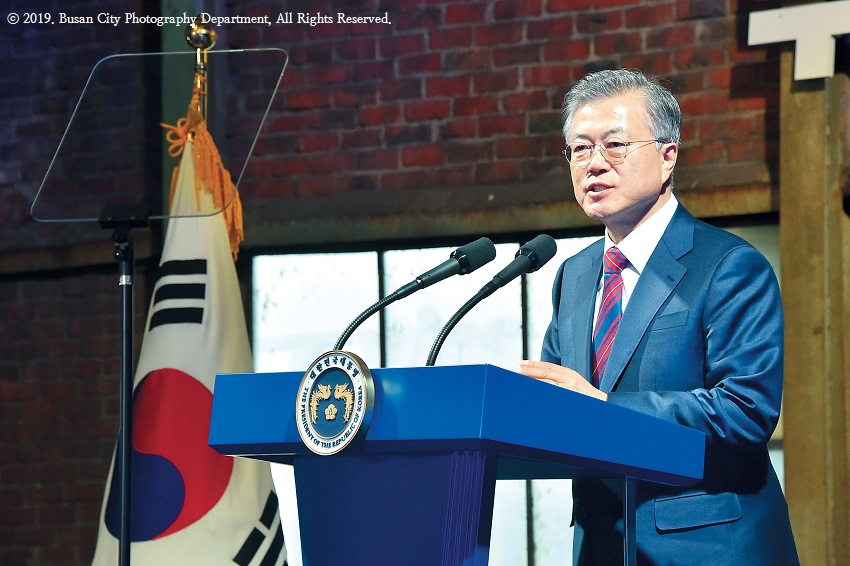⁠⁠President shows support for Busan restoration plan