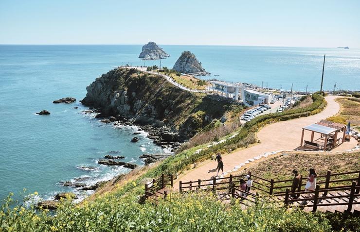 [与动感釜山同行釜山路] ④770km海蓝路的起点,二妓台海岸散步路